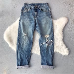 VTG 90s Lee Distressed Boyfriend Jeans